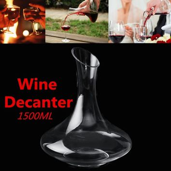 Crystal Big Wine Decanter - Brandy Container - Free Shipping