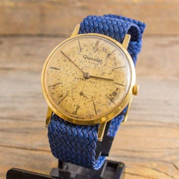 Vintage Gigandet super-flat mens watch, gold plated vintage swiss watch
