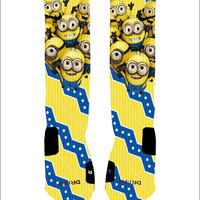 Custom Despicable Me Minions Socks Custom Nike Elites