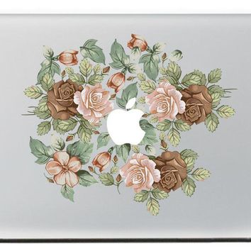 Rose Group  Vinyl Decal Sticker for DIY Macbook Pro / Air 11 13 15 Inch Laptop Case Cover Sticker