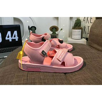 New balance 2018 summer counter tide brand fashion casual wild slippers sandals F-CSXY Pink