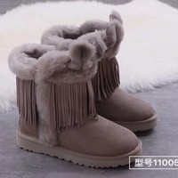 """""""UGG """"Women Fashion Fur Leather Winter Snow Boots Shoes"""