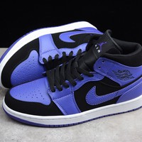 HCXX 19Aug 375 Air Jordan 1 Mid 554724-051 Skateboard Shoes Breathable Casual Sneakers