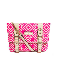 River Island Aztec Print Buckle Front Cross Body Bag
