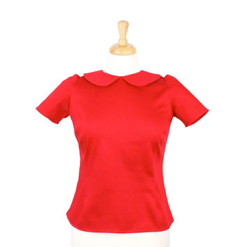 Cherry Red Vintage Inspired Top