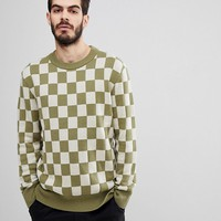 Nudie Jeans Co Elof Checkerboard Jumper at asos.com