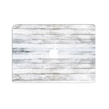 Apple Macbook White Wood Front Cover Decal Sticker | FREE SHIPPING