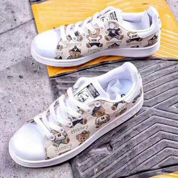 LM0FN Adidas Stan smith x bear sports shoes yellow H-PSXY