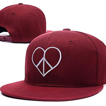 RHXING Bethany Mota Motavator Symbol Logo Adjustable Snapback Embroidery Hats Caps - Red