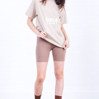 Girls Tour Tee - Light Tan