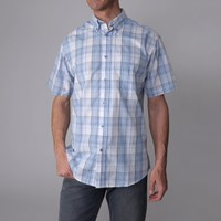 Gioberti by Boston Traveler Mens Checkered Short-sleeve Shirt
