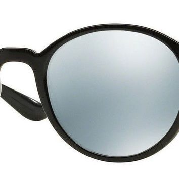 Authentic RAY-BAN Round LITEFORCE RB4237 601/30 Black/Silver Mirror Lens 50mm