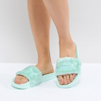 Puma Fenty Fur Slide at asos.com