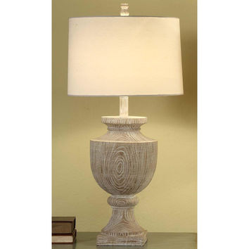 Crestview Collection Cvaup523 Avalon Carved Wood Table Lamp