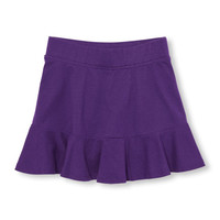 Girls Matchables Solid Ruffle Knit Skort | The Children's Place