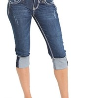 LA Idol Jean Capris with Whipstitch Pocket 5980CP