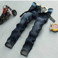 Autumn Vintage Men Men's Fashion Pants Stylish Slim Jeans [6528346499]