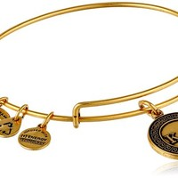 "Alex and Ani ""Sorority"" Kappa Alpha Theta Expandable Rafaelian Gold Finish Wire Bangle Bracelet, 2.4"""