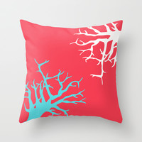 CORAL REEF 13 Throw Pillow by Monika Strigel