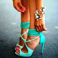 Fish head Roman high heels Sandals