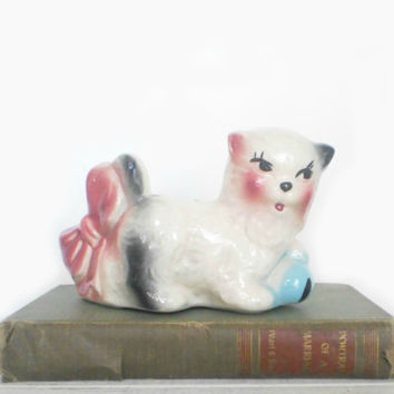 Kitsch Home Decor Spring Kitty Planter Cat by RhettDidntGiveADamn
