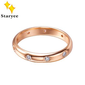 Branded 18K Solid Rose Gold Diamond Wedding Band Rings For Women Men Lovers Engagement D0.13Carat VS H Free Engraving Drop Ship