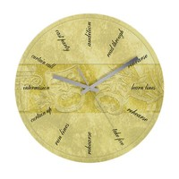 Theater-Mask-clockLARGEST Wall Clock