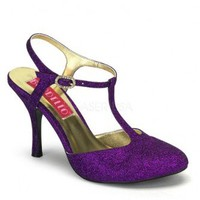 Purple Glitter T Strap Heels @ Amiclubwear Heel Shoes online store sales:Stiletto Heel Shoes,High Heel Pumps,Womens High Heel Shoes,Prom Shoes,Summer Shoes,Spring Shoes,Spool Heel,Womens Dress Shoes,Prom Heels,Prom Pumps,High Heel Sandals,Cheap Dress Shoe