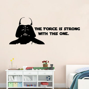 Star War The Force Awakens character Darth Vader quote pattern removable home decor wall sticker creative decoration