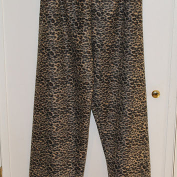 Cheetah Print Fleece Pajamas Pants