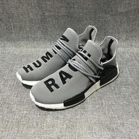 Beauty Ticks Adidas Nmd Human Race Grey Leisure Running Sports Shoes