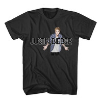 Justin Bieber Singer Black and White Shirt Tshirt Tee