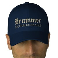 Embroidered Drummer Extraordinaire Music Cap Embroidered Hat from Zazzle.com