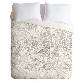 Geronimo Studio Grey Birds Duvet Cover