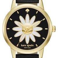 kate spade new york 'metro - flower' leather strap watch, 26mm | Nordstrom