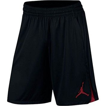 Nike Mens Jordan 23 Alpha Knit Basketball Shorts Black/Gym Red 849143-010 Size Large