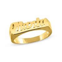 Bold Name Ring in Sterling Silver with 14K Gold Plate (1 Line)|Zales