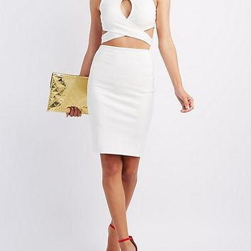Wrap Crop Top & Pencil Skirt Hook-Up