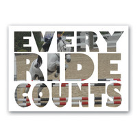 Every Ride Counts Poster I WHF Original Horse Poster-Wild Horsefeathers