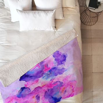 Viviana Gonzalez Watercolor Love 1 Fleece Throw Blanket