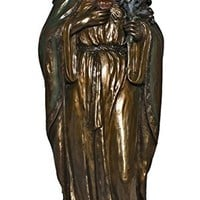 Immaculate Heart of Mary from the Veronese Collection. Lightly hand-painted cold cast bronze, 11 inches.