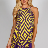 Quarterback Keeper Purple & Gold Gameday Dress