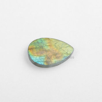 Labradorite Stone, Labradorite Loose Gemstone, Both Side Flat Smooth Stone, Calibrated Cabochons, Cabochons Gemstone - 5 Pcs.