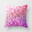 Molten Pink Throw Pillow by Lisa Argyropoulos
