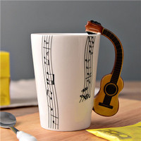 Ceramic Coffee Cup (Music Inspired - Acoustic Guitar)