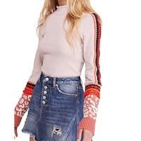 Free People - Switch It Up Cuff Thermal Top - Ballet Pink