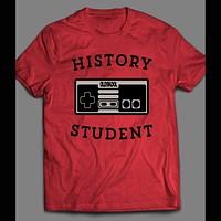 YOUTH SIZE HISTORY STUDENT OLDSKOOL GAME CONTROLLER T-SHIRT