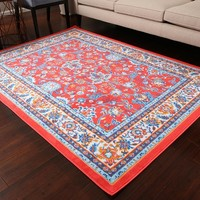 0843 Red Colorful Oriental Area Rugs