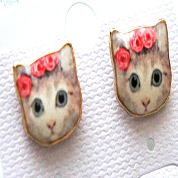 Boho Cat Earrings