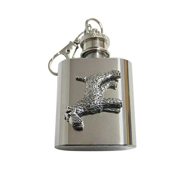 Fox Terrier Dog 1 Oz. Stainless Steel Key Chain Flask